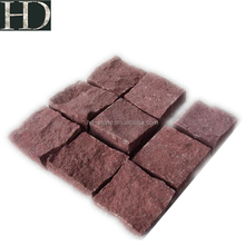 Red Porphyry Granite Cube Stone Paving Stone 10x10x10 Natural Split Surface Cobble Stone