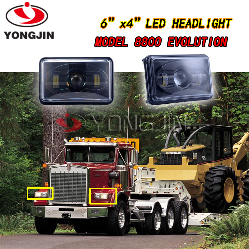Emark 4X6 Low Beam LED Square Sealed Beam Headlight For <strong>Auto</strong>