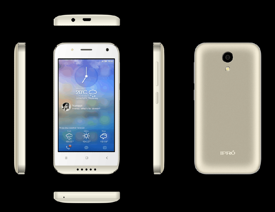4.0 inch 4G MTK6737 Quad Core 1GB 8GB cheap Android 6.0 smartphone City Call Phone