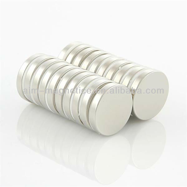 "Led application 3/16"" dia. x 3/16"" thick Zinc Plated neodymium magnets"