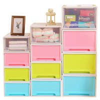 wholesale makeup organizer plastic storage drawers, colorful storge cabinet