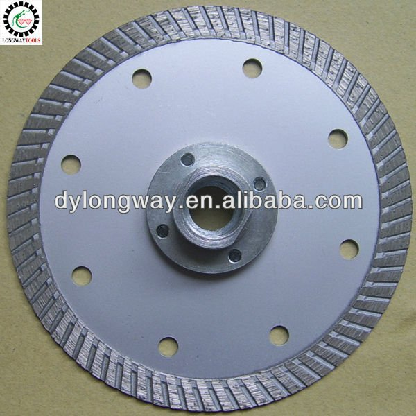 "125mm hot press fine turbo 5""diamond saw blade with aluminium flange for granite,marble and concrete.parts for brush cutter hand"