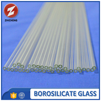high purity open clear glass capillary tube