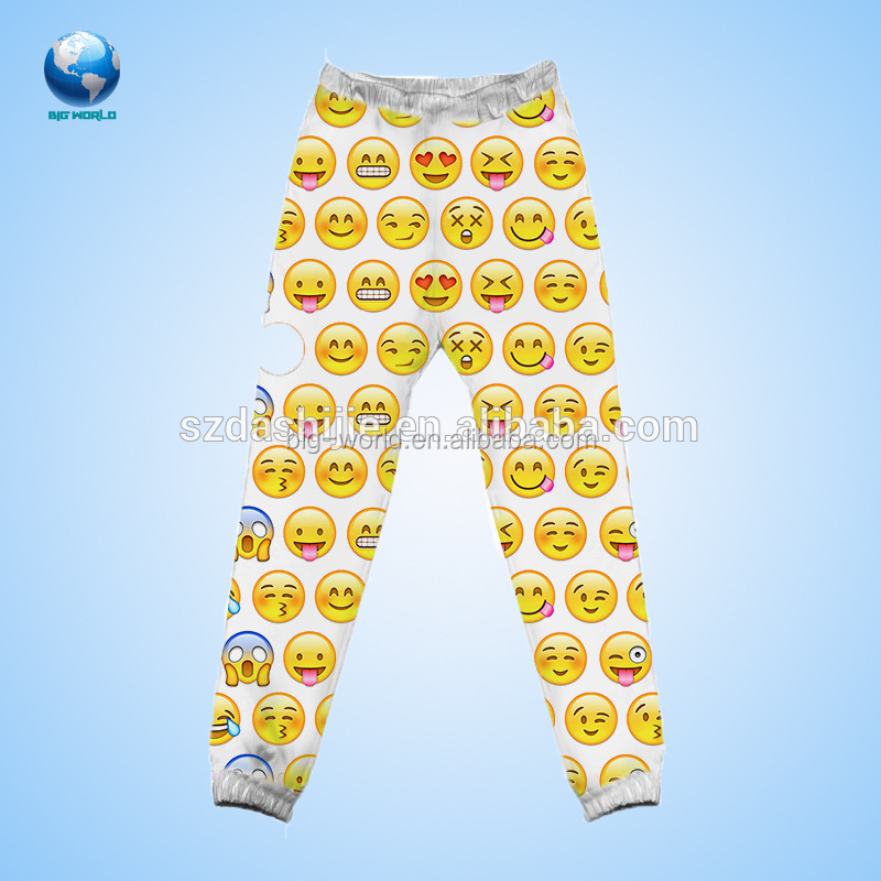 Big-world Fashion sublimation tousers,Korea style printing pants,all over printing tousers
