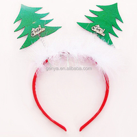 New Christmas tree headband feather hair accessories with feather accessories