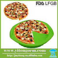 100% food grade eco-friendly silicone cake pan shape pizza pan