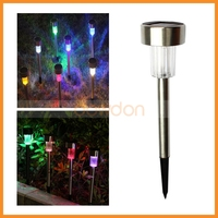Colorful Solar Panel LED Spike Spot Light Spotlight Landscape Garden Yard Path Lawn Solar Lamps