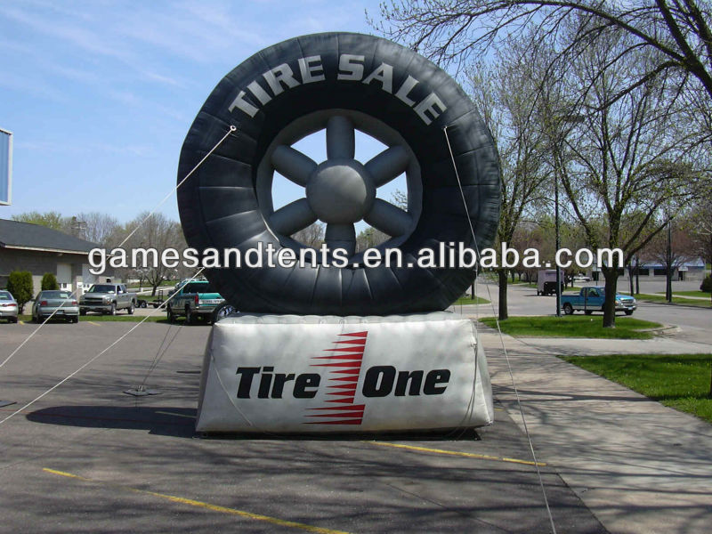 hot sale inflatable tire balloon with your logo imprint F7016