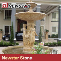 Marble Wall Water Fountain With Statues