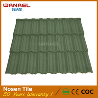 Best Quality 8 Waves Classical Shake Shingle Stone Coated Metal Roofing Tiles