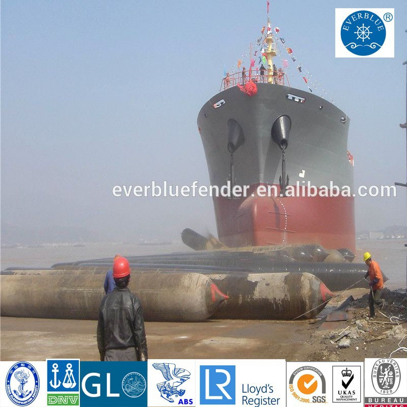 High performance lifting/ship launching marine rubber airbags