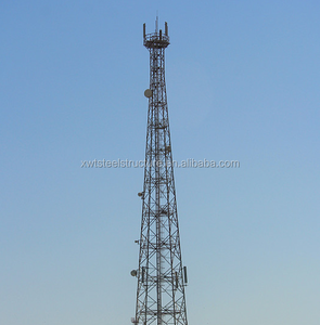 Steel Structure telecom communication triangular radio Mobile telescopic antenna tower