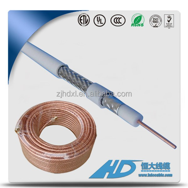 Factory low price 75ohm coaxial cable RG6 coiled coaxial cable