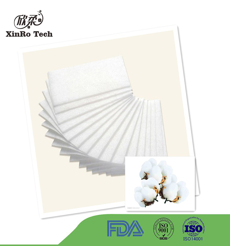 High Quality Customized Soft White Cosmetic Organic Cotton Pads