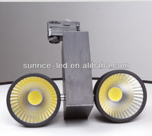 Shenzhen manufacturer of 10W 20W 30W COB led track spot light black/silver/white body 3000-5000LM