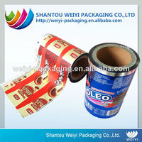 colored laminated plastic packing roll film with good quality
