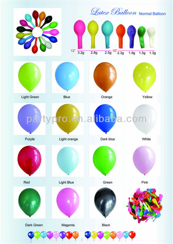 High Quality Party Balloons Metalic Ballons