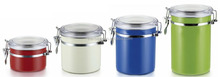 Stainless steel colorful kitchen canister set