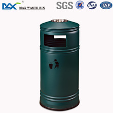MAX-SN88 Outdoor Standing Featur Dome Top Iron Powder Coated Ashtray Bin