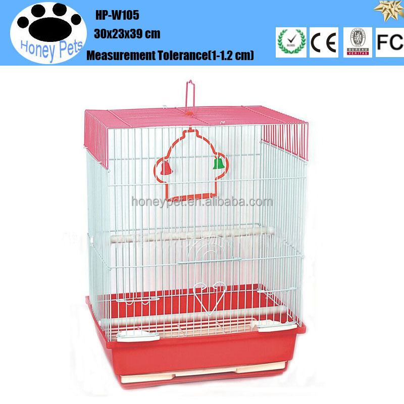 HP-W105 hand made wire mesh metal chrome finch bird cage