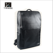 custom leather backpack high quality mens black pu leather bag