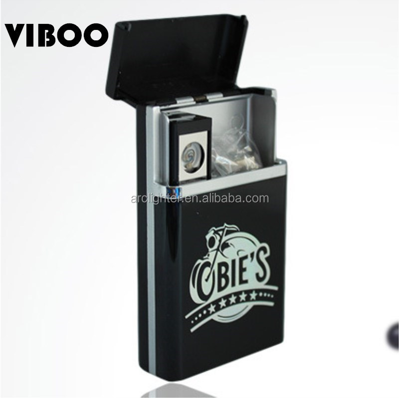 hot sale cigarette box usb electronic coil lighter