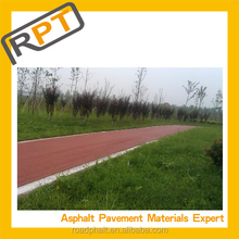 Low-cost colored cold asphalt mixture