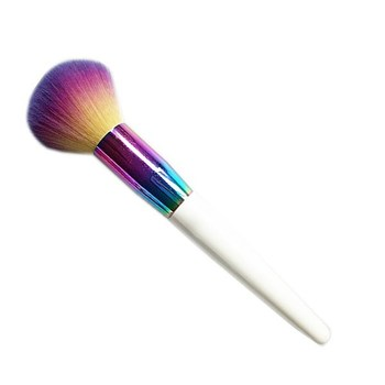 Newest Design Colorful Synthetic Hair Wooden Handle Makeup Brush,Private Label Makeup Brush