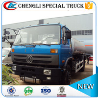 China famous brand dongfeng 4X2 low price fuel tanker 15000L oil delivery truck fuel refilling truck for sale