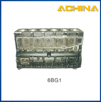spare parts 6BG1 engine motorcycle cylinder block for excavator parts