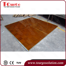 Tourgo Teakwood Top Dance Floor Stage Wedding Party Hotel Dancing Floor