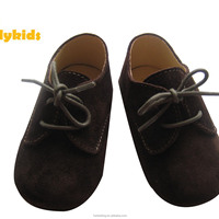 Black Suede Leather Shoes For Baby