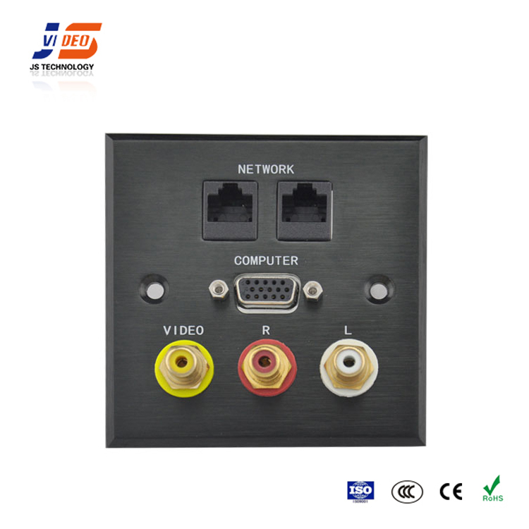JS-WP103 Office Supplies video rj45 interface electrical plug socket