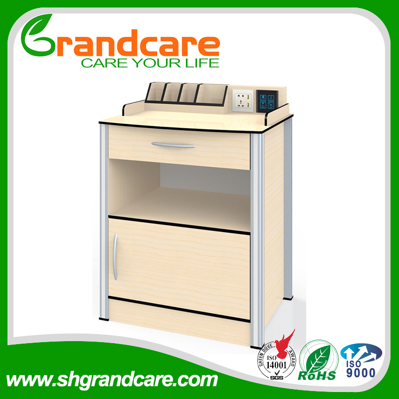 G-FW003 Chemical Resistant Resin Panel Hospital Bedside Lockers With USB Power Slot used For Hospitals