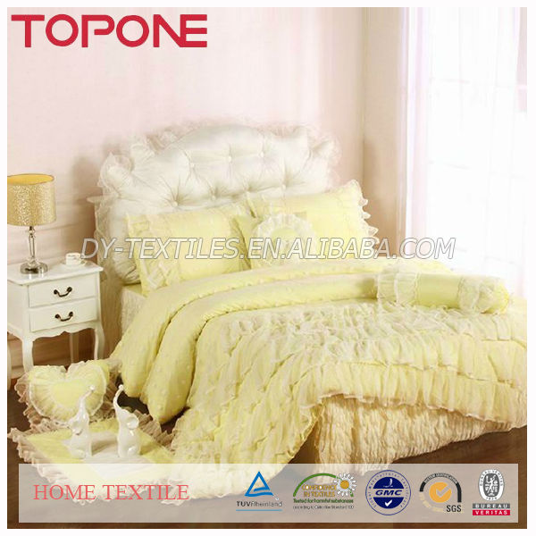 Excellent design high quality oem hangzhou pretty chinese lace bed cover