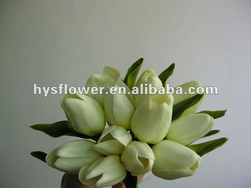 Soft touch artificial tulip wedding flower bouquet