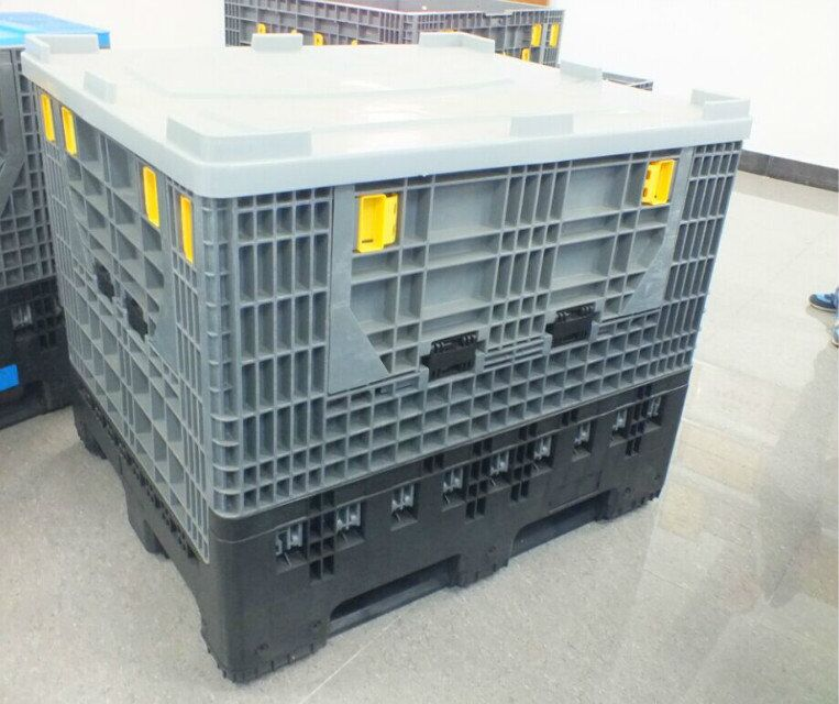 Folding corrugated plastic box/waterproof plastic container