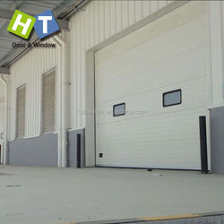 straight remote control white big power energy industrial lift sectional door