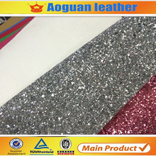 2017 high quality coating backing Christmas shiny chunky glitter fabric for shoe and decoration