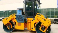 HF810 10 ton diesel engine rubber tire road roller for sale