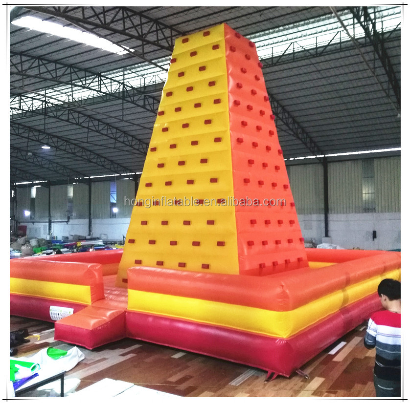 Rock Climb Wall Amusement Park Climbing Game Used Mobile Inflatable Indoor Rock Climbing Wall