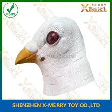 X-MERRY Adult mask white feather animal mask for party latex ful head mask
