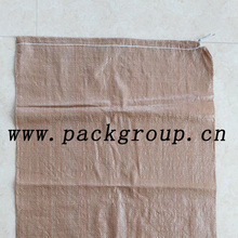 sell brown color plastic garbage bags size 60x90cm
