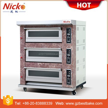 Nicko's gas deck oven 3 deck baking oven of bakery equipment