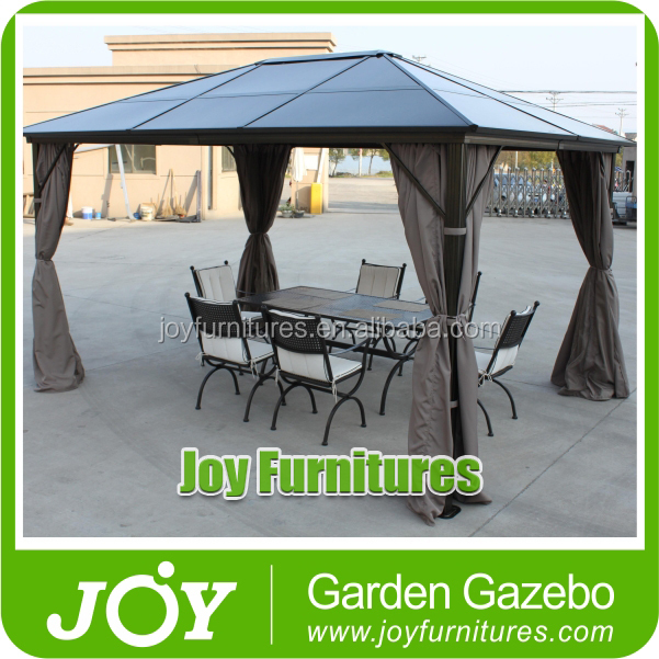 Used Wrought Iron Octagonal Polycarbonate Outdoor Gazebo For Sale