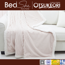 Bedshe Super soft White double side plush sherpa blanket
