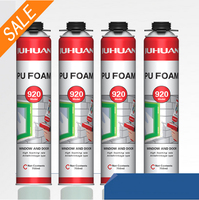 JUHUAN Best Selling window door Cheap 750ml PU Expanding Spray Polyurethane Foam Insulation Adhesive Fire Retardant Foam