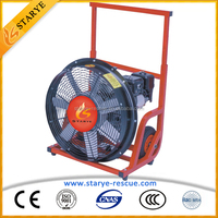 Security & Protection Fire Fighting Equipment Gasoline Engine 5.5HP Smoke Removal Ventilator Fan