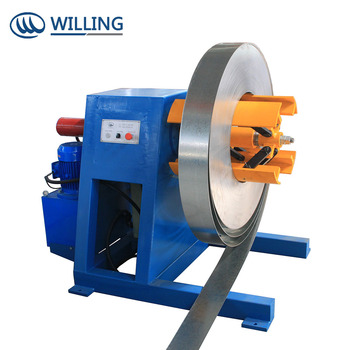 factory for sale steel coil using uncoiler, decoiler, recoiler/ 5tons Manual Uncoiler/Decoiler Machine for steel coil