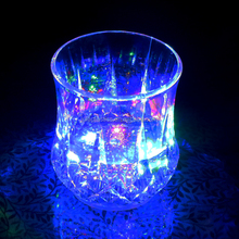 Plastic led flashing cup, shot glass plastic with LED